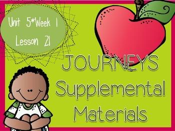 Journeys - Kindergarten Lesson 21 - Unit 5, Week 1 - Suppl
