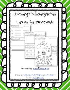 Journeys Kindergarten Lesson 23 Homework