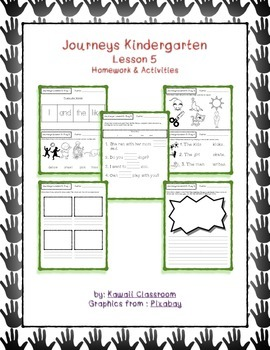 Journeys Kindergarten Lesson 5 Homework & Classwork