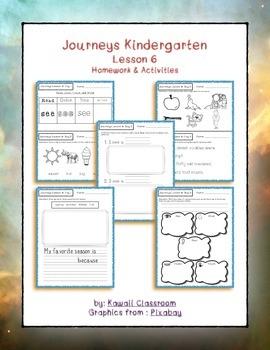 Journeys Kindergarten Lesson 6 Homework
