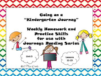 Journeys Kindergarten Practice Skills Unit 3 Lessons 11-15