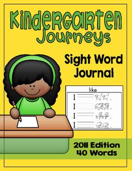 Journeys Kindergarten Sight Word Journal 2011 Edition