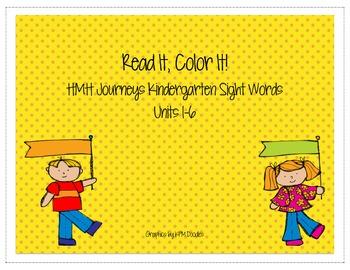 Journeys Kindergarten Sight Words: Read It, Color It!