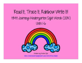 Journeys Kindergarten Sight Words: Read It, Trace It, Writ