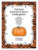 Journeys Kindergarten Unit 2 Word Work