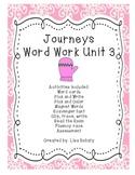 Journeys Kindergarten Unit 3 Word Work