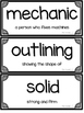 Journeys Kindergarten Vocabulary Wall Cards- Oral & Select