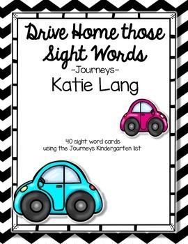 Kindergarten Word List-Cars