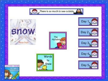 Journeys Kindergarten smartboard lesson Unit 3 Lesson 12