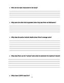 """Journey's """"LAFFF"""" Comprehension & Vocabulary Worksheet"""