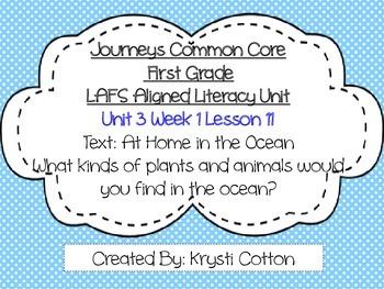 Journeys LAFS Aligned Literacy Unit Unit 3 Week 1 (Lesson