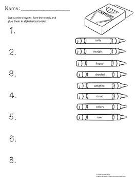 Journeys Lesson 1 alphabetical order