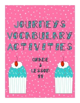 Journeys Lesson 11 Vocabulary Practice  Third Grade