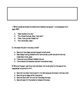 Journeys Lesson 12 FSA Practice questions