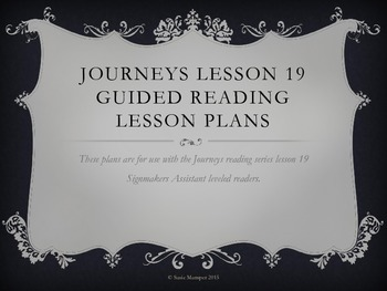 Journeys Lesson 19 The Signmaker's Assistant Guided Readin