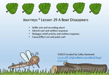 Journeys ® Lesson 29 A Boat Disappears