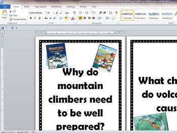 Grade 3 Journeys Lessons 1 - 25 Essential Question Posters
