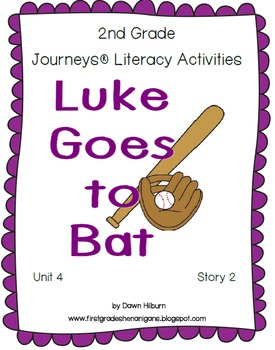 Journeys® Literacy Activities - Luke Goes to Bat - Grade 2
