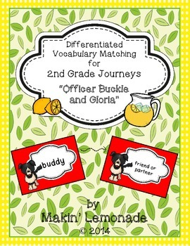 """Journeys: """"Officer Buckle and Gloria"""" Differentiated Vocab"""