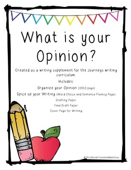 Journeys Opinion Writing Packet