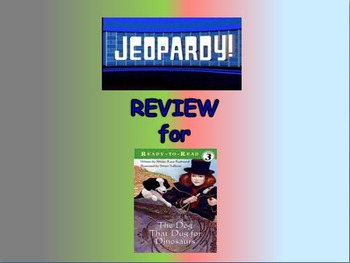 """Journeys 2nd Lesson 27 Jeopardy Review PPT for """"The Dog Th"""