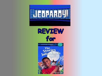 """Journeys 2nd Lesson 22 Jeopardy Review for """"Gloria Who Mig"""