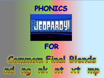 """Journeys 2nd Lesson 06 Jeopardy Phonics PPT for """"Animals B"""