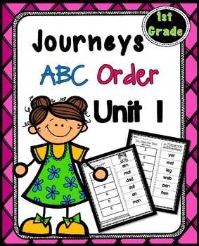 First Grade Reading Unit 1 ~ ABC Order Cut and Paste