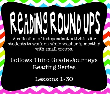 Journeys Reading Round Up Lessons 1-30