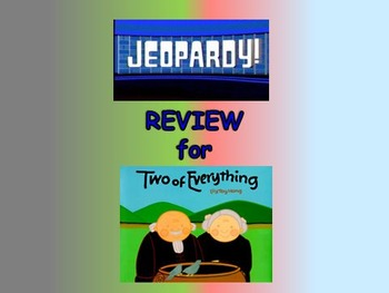"Journeys 2nd Lesson 29 Jeopardy Review PPT for ""Two of Eve"