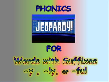 """Journeys 2nd Lesson 23 Phonics Jeopardy PPT for """"The Goat"""