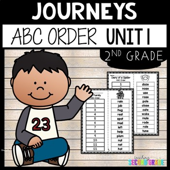 Journeys Reading Second Grade Unit 1 ~ ABC Order Cut and Paste