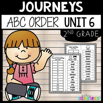 Journeys Reading Second Grade Unit 6 ~ ABC Order Cut and Paste