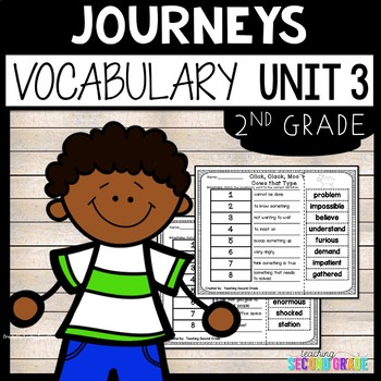 Journeys Reading Second Grade Unit 3 ~ Vocabulary Words Cu
