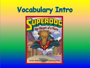 """Journeys 2nd Lesson 20 Vocab Intro PPT for """"Dex: The Heart"""