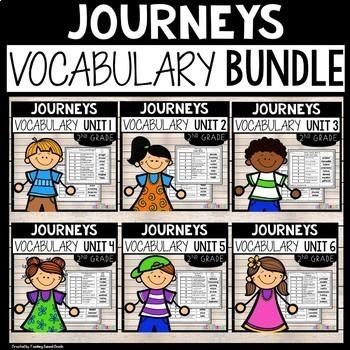 Journeys Second Vocabulary Bundle