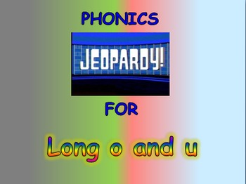 """Journeys 2nd Lesson 04 Jeopardy Phonics PPT for """"Diary of"""