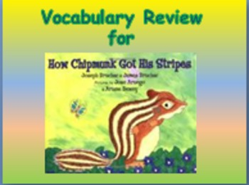 "Journeys 2nd Lesson 09 Vocab Review PPT for ""How Chipmunk"
