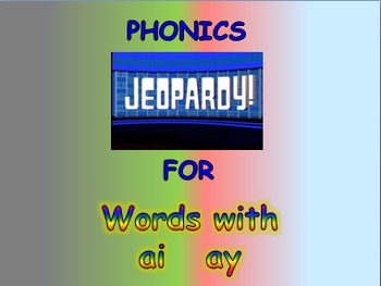 """Journeys 2nd Lesson 12 Jeopardy Phonics PPT for """"Ah, Music!"""""""