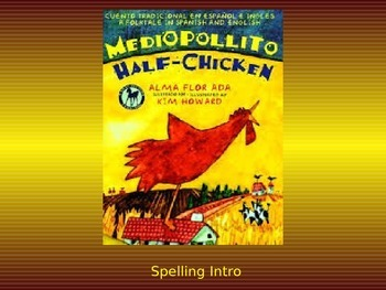 "Journeys 2nd Lesson 24 Spelling Intro PPT for ""Half-Chicken"""