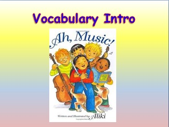 """Journeys 2nd Lesson 12 Vocab Intro PPT for """"Ah, Music!"""""""