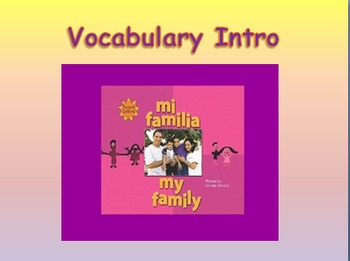 """Journeys 2nd Lesson 02 Vocab Intro PPT for """"My Family"""""""