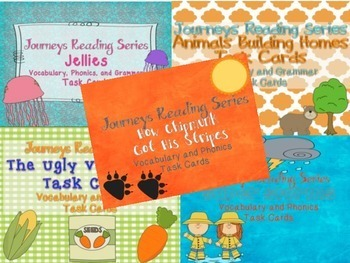 Journeys Reading Series Unit Two Task Cards