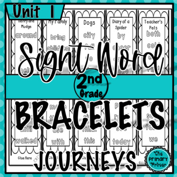 Journeys SECOND Grade Unit ONE Sight Word Bracelets/Bookmarks