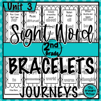 Journeys SECOND Grade Unit THREE Sight Word Bracelets/Bookmarks