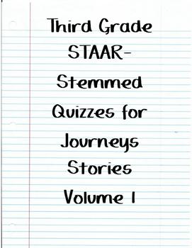 Journeys STAAR Quizzes for Volume 1