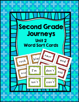 Journeys Second Grade Differentiated Word Sort Cards Unit 2