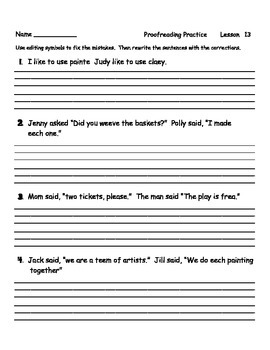 Journeys Proofreading Practice Grade 2 Entire Year