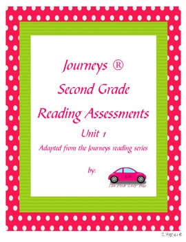 Journeys 2nd Grade Reading Assessments unit 1