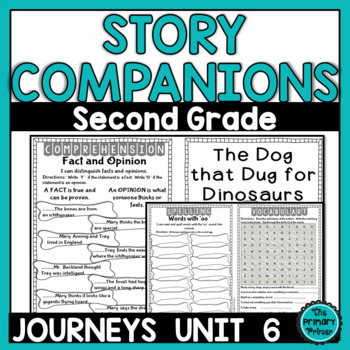 Journeys SECOND Grade Story Companions:  Unit SIX